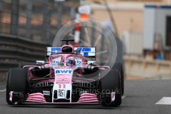 World © Octane Photographic Ltd. Formula 1 – Monaco GP - Practice 1. Sahara Force India VJM11 - Sergio Perez. Monte-Carlo. Thursday 24th May 2018.
