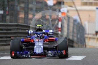World © Octane Photographic Ltd. Formula 1 – Monaco GP - Practice 1. Scuderia Toro Rosso STR13 – Pierre Gasly. Monte-Carlo. Thursday 24th May 2018.
