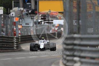 World © Octane Photographic Ltd. Formula 1 – Monaco GP - Practice 1. Williams Martini Racing FW41 – Sergey Sirotkin. Monte-Carlo. Thursday 24th May 2018.