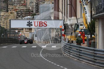 World © Octane Photographic Ltd. Formula 1 – Monaco GP - Practice 1. Haas F1 Team VF-18 – Romain Grosjean. Monte-Carlo. Thursday 24th May 2018.