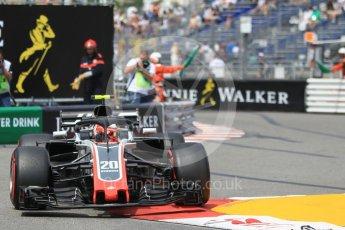 World © Octane Photographic Ltd. Formula 1 – Monaco GP - Practice 2. Haas F1 Team VF-18 – Kevin Magnussen. Monte-Carlo. Thursday 24th May 2018.