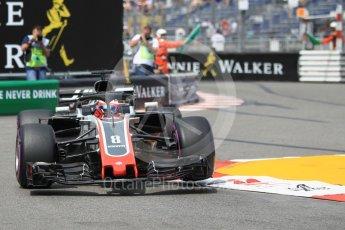 World © Octane Photographic Ltd. Formula 1 – Monaco GP - Practice 2. Haas F1 Team VF-18 – Romain Grosjean. Monte-Carlo. Thursday 24th May 2018.
