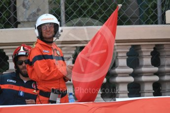 World © Octane Photographic Ltd. Formula 1 – Monaco GP - Practice 2. Red flag. Monte-Carlo. Thursday 24th May 2018.