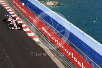 World © Octane Photographic Ltd. Formula 1 – Monaco GP - Practice 2. Sahara Force India VJM11 - Sergio Perez. Monte-Carlo. Thursday 24th May 2018.