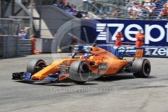 World © Octane Photographic Ltd. Formula 1 – Monaco GP - Qualifying. McLaren MCL33 – Fernando Alonso. Monte-Carlo. Saturday 26th May 2018.