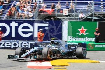 World © Octane Photographic Ltd. Formula 1 – Monaco GP - Qualifying. Mercedes AMG Petronas Motorsport AMG F1 W09 EQ Power+ - Valtteri Bottas. Monte-Carlo. Saturday 26th May 2018.
