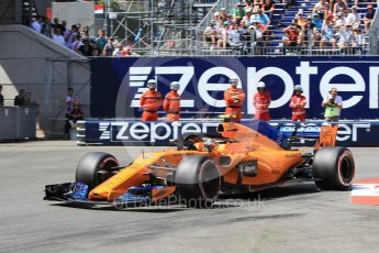 World © Octane Photographic Ltd. Formula 1 – Monaco GP - Qualifying. McLaren MCL33 – Stoffel Vandoorne. Monte-Carlo. Saturday 26th May 2018.