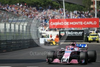 World © Octane Photographic Ltd. Formula 1 – Monaco GP - Qualifying. Sahara Force India VJM11 - Sergio Perez. Monte-Carlo. Saturday 26th May 2018.