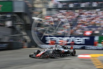 World © Octane Photographic Ltd. Formula 1 – Monaco GP - Qualifying. Haas F1 Team VF-18 – Romain Grosjean. Monte-Carlo. Saturday 26th May 2018.