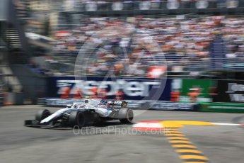 World © Octane Photographic Ltd. Formula 1 – Monaco GP - Qualifying. Williams Martini Racing FW41 – Sergey Sirotkin. Monte-Carlo. Saturday 26th May 2018.
