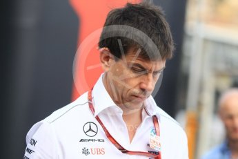 World © Octane Photographic Ltd. Formula 1 - Monaco GP - Paddock. Toto Wolff - Executive Director & Head of Mercedes-Benz Motorsport. Monte-Carlo. Sunday 27th May 2018.