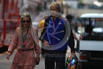 World © Octane Photographic Ltd. Formula 1 – Monaco GP - Paddock. Scuderia Toro Rosso STR13 – Brendon Hartley. Monte-Carlo. Sunday 27th May 2018.