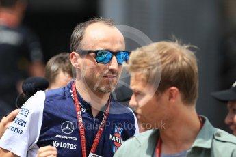 World © Octane Photographic Ltd. Formula 1 – Monaco GP - Paddock. Williams Martini Racing FW41 – Robert Kubica. Monte-Carlo. Thursday 24th May 2018.