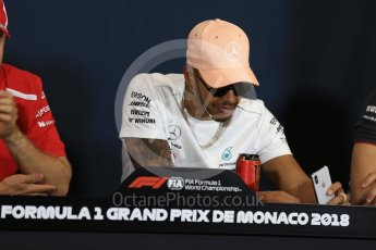 World © Octane Photographic Ltd. Formula 1 – Monaco GP –Drivers Press Conference. Mercedes AMG Petronas Motorsport - Lewis Hamilton. Monte-Carlo. Wednesday 23rd May 2018.