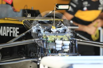 World © Octane Photographic Ltd. Formula 1 – Monaco GP - Setup. Renault Sport F1 Team RS18. Monte-Carlo. Wednesday 23rd May 2018.