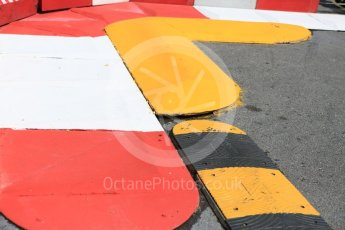 World © Octane Photographic Ltd. Formula 1 – Monaco GP - Setup. Swimming pool entry rumble strip. Monte-Carlo. Wednesday 23rd May 2018.