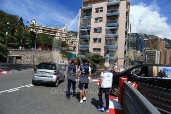 World © Octane Photographic Ltd. Formula 1 – Monaco GP - Track Walk. Williams Martini Racing FW41 – Lance Stroll. Monte-Carlo. Wednesday 23rd May 2018.