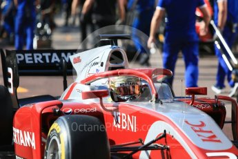 World © Octane Photographic Ltd. FIA Formula 2 (F2) – Monaco GP - Practice. Prema Powerteam - Sean Gelael. Monte Carlo. Thursday 24th May 2018.