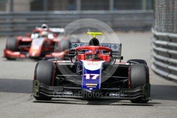 World © Octane Photographic Ltd. FIA Formula 2 (F2) – Monaco GP - Qualifying. Trident - Santino Ferrucci and Prema Powerteam - Sean Gelael. Monte Carlo. Thursday 24th May 2018.