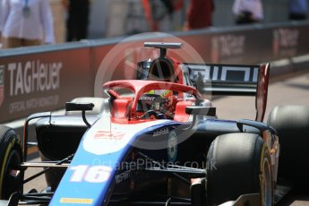World © Octane Photographic Ltd. FIA Formula 2 (F2) – Monaco GP - Race 1. Trident - Arjun Maini. Monte Carlo. Friday 25th May 2018.