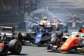 World © Octane Photographic Ltd. FIA Formula 2 (F2) – Monaco GP - Race 1. Russian Time - Tadasuke Makino. Monte Carlo. Friday 25th May 2018.