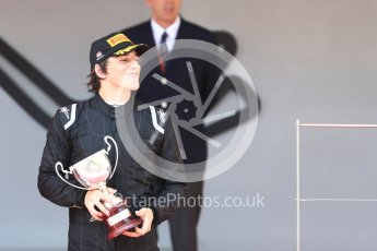 World © Octane Photographic Ltd. FIA Formula 2 (F2) – Monaco GP - Race 1 - Podium. MP Motorsport - Roberto Merhi. Monte Carlo. Friday 25th May 2018.
