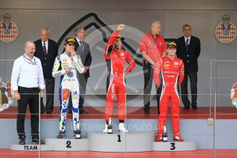 World © Octane Photographic Ltd. FIA Formula 2 (F2) – Monaco GP - Race 2. Charouz - Antonio Fuoco and Louis Delatraz and Carlin - Lando Norris. Monte Carlo. Saturday 26th May 2018.