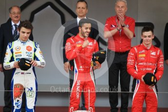 World © Octane Photographic Ltd. FIA Formula 2 (F2) – Monaco GP - Race 2. Charouz - Antonio Fuoco and Louis Delatraz and Carlin - Lando Norris. Monte Carlo. Saturday 26th May 2018.