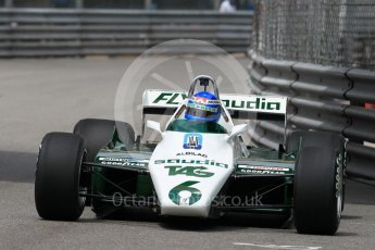 World © Octane Photographic Ltd. Formula 1 – Monaco GP - Rosberg Father and Son World Championship cars demonstration. Williams FW08 - Keke Rosberg. Monte-Carlo. Thursday 24th May 2018.