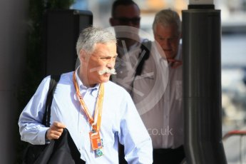 World © Octane Photographic Ltd. Formula 1 - Monaco GP - Paddock. Chase Carey - Chief Executive Officer of the Formula One Group. Monte-Carlo. Saturday 26th May 2018.