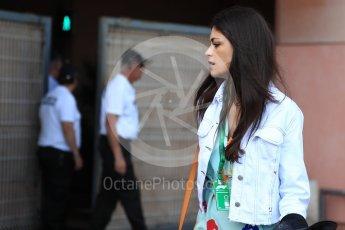 World © Octane Photographic Ltd. Formula 1 – Monaco GP - Paddock. McLaren MCL33 – Fernando Alonso girlfriend Linda Morselli. Monte-Carlo. Saturday 26th May 2018.