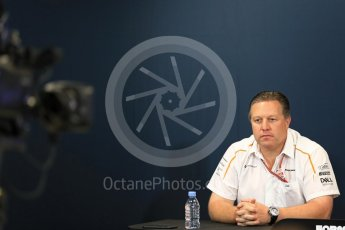 World © Octane Photographic Ltd. Formula 1 – Monaco GP – Team Personnel Press Conference. Zak Brown - Executive Director of McLaren Technology Group. Monte-Carlo. Thursday 24th May 2018.