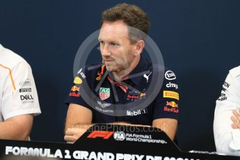 World © Octane Photographic Ltd. Formula 1 – Monaco GP – Team Personnel Press Conference. Christian Horner - Team Principal of Red Bull Racing. Monte-Carlo. Thursday 24th May 2018.