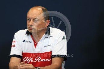 World © Octane Photographic Ltd. Formula 1 – Monaco GP – Team Personnel Press Conference. Frederic Vasseur – Team Principal and CEO of Sauber Motorsport AG. Monte-Carlo. Thursday 24th May 2018.