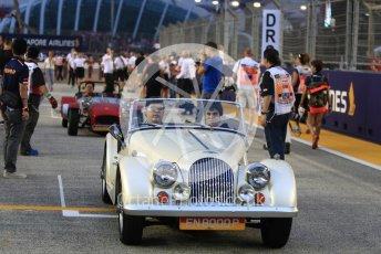 World © Octane Photographic Ltd. Formula 1 – Singapore GP - Drivers Parade. Williams Martini Racing FW41 – Lance Stroll. Marina Bay Street Circuit, Singapore. Sunday 16th September 2018.