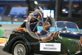 World © Octane Photographic Ltd. Formula 1 – Singapore GP - Drivers Parade. Aston Martin Red Bull Racing TAG Heuer RB14 – Daniel Ricciardo. Marina Bay Street Circuit, Singapore. Sunday 16th September 2018.