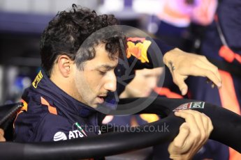 World © Octane Photographic Ltd. Formula 1 – Singapore GP - Grid. Aston Martin Red Bull Racing TAG Heuer RB14 – Daniel Ricciardo. Marina Bay Street Circuit, Singapore. Sunday 16th September 2018.