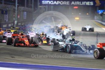 World © Octane Photographic Ltd. Formula 1 – Singapore GP - Race. Mercedes AMG Petronas Motorsport AMG F1 W09 EQ Power+ - Valtteri Bottas. Marina Bay Street Circuit, Singapore. Sunday 16th September 2018.