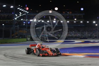 World © Octane Photographic Ltd. Formula 1 – Singapore GP - Race. Scuderia Ferrari SF71-H – Kimi Raikkonen. Marina Bay Street Circuit, Singapore. Sunday 16th September 2018.