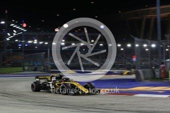 World © Octane Photographic Ltd. Formula 1 – Singapore GP - Race. Renault Sport F1 Team RS18 – Carlos Sainz. Marina Bay Street Circuit, Singapore. Sunday 16th September 2018.