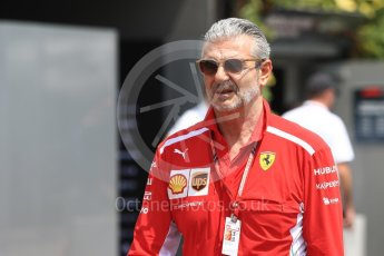 World © Octane Photographic Ltd. Formula 1 - Singapore GP - Paddock. Maurizio Arrivabene – Managing Director and Team Principal of Scuderia Ferrari. Marina Bay Street Circuit, Singapore. Friday 14th September 2018.