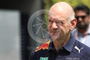World © Octane Photographic Ltd. Formula 1 - Singapore GP - Paddock. Adrian Newey - Chief Technical Officer of Red Bull Racing. Marina Bay Street Circuit, Singapore. Friday 14th September 2018.