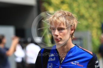 World © Octane Photographic Ltd. Formula 1 – Singapore GP - Paddock. Scuderia Toro Rosso – Brendon Hartley. Marina Bay Street Circuit, Singapore. Friday 14th September 2018.