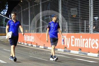 World © Octane Photographic Ltd. Formula 1 – Singapore GP - Track Walk. Scuderia Toro Rosso STR13 – Brendon Hartley. Marina Bay Street Circuit, Singapore. Thursday 13th September 2018.