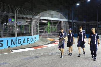 World © Octane Photographic Ltd. Formula 1 – Singapore GP - Track Walk. Racing Point Force India VJM11 - Sergio Perez. Marina Bay Street Circuit, Singapore. Thursday 13th September 2018.