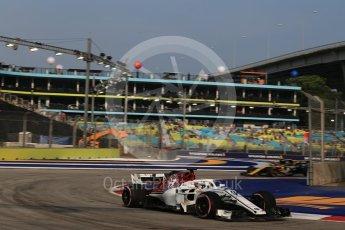 World © Octane Photographic Ltd. Formula 1 – Singapore GP - Practice 1. Alfa Romeo Sauber F1 Team C37 – Marcus Ericsson. Marina Bay Street Circuit, Singapore. Friday 14th September 2018.
