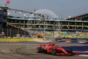 World © Octane Photographic Ltd. Formula 1 – Singapore GP - Practice 1. Scuderia Ferrari SF71-H – Kimi Raikkonen. Marina Bay Street Circuit, Singapore. Friday 14th September 2018.