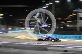 World © Octane Photographic Ltd. Formula 1 – Singapore GP - Practice 2. Scuderia Toro Rosso STR13 – Brendon Hartley. Marina Bay Street Circuit, Singapore. Friday 14th September 2018.