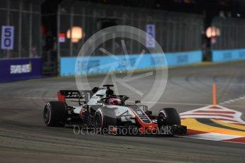World © Octane Photographic Ltd. Formula 1 – Singapore GP - Practice 2. Haas F1 Team VF-18 – Romain Grosjean. Marina Bay Street Circuit, Singapore. Friday 14th September 2018.