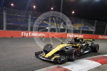 World © Octane Photographic Ltd. Formula 1 – Singapore GP - Practice 2. Renault Sport F1 Team RS18 – Carlos Sainz. Marina Bay Street Circuit, Singapore. Friday 14th September 2018.